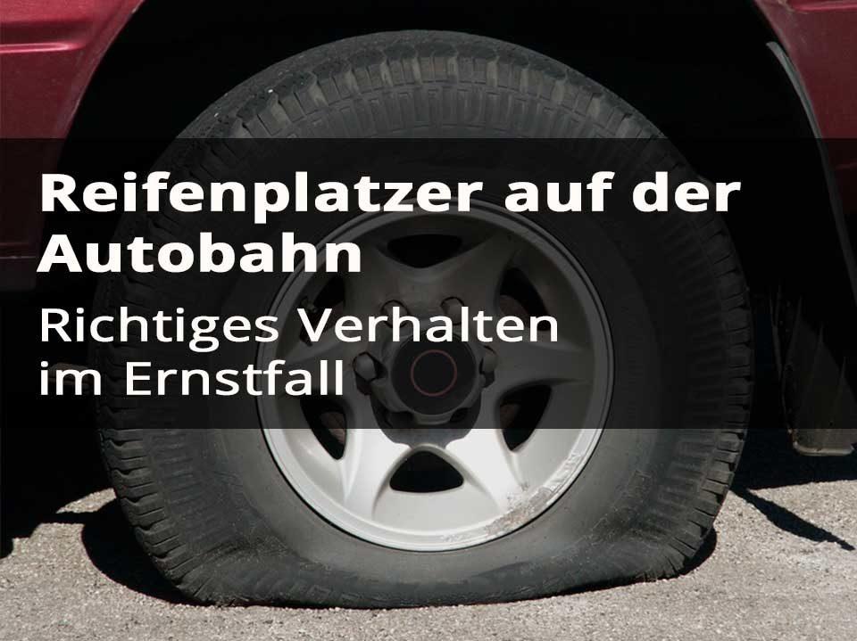 geplatzter Reifen auf der Autobahn