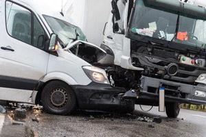 Gewerblicher Wagen Unfall