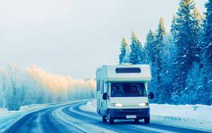 Lappland Autofahren im Winter